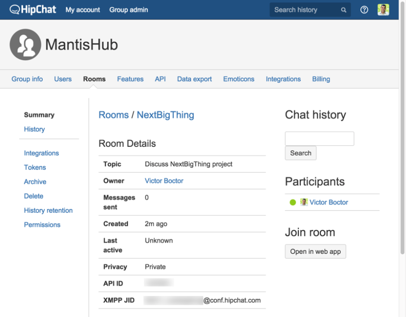 hipchat-manage-room